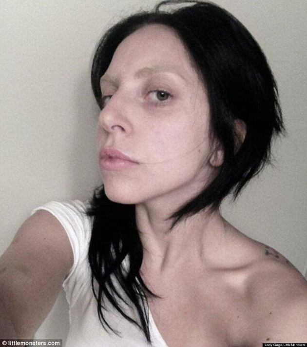 Lady Gaga Looks Unrecognizable In Makeup-Free Photo
