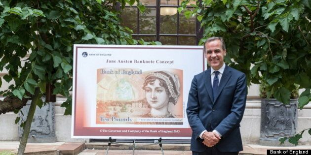 Mark Carney, Bank Of England Governor, Puts Jane Austen On 10-Pound
