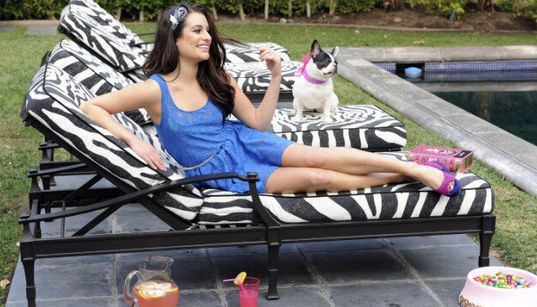 Lea Michele Living Large, Surrounded By Fancy Things And