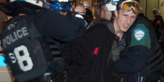 Bill 78: Montreal Police Crack Down On Protests Against Emergency