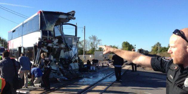 Ottawa Train, Bus Crash Photos: VIA Rail Train, OC Transpo Bus Collision