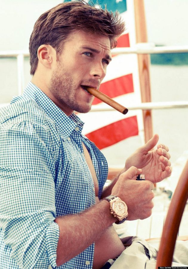 Scott Eastwood Gets His Model Good Looks From Dad Clint In Town & Country Photo