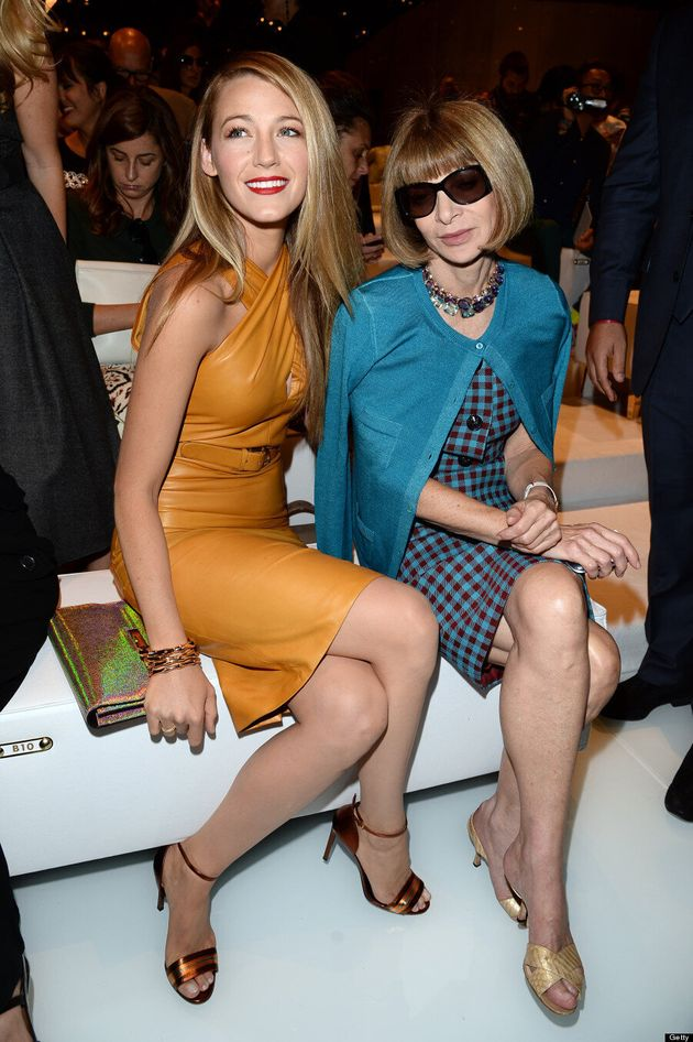 Blake Lively Can't Impress Anna Wintour At Gucci Fashion Show