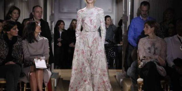 Diaphanous, White Valentino Collection Haunts At Paris Couture