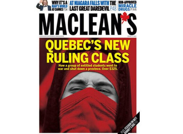 Maclean's Quebec Cover Takes Aim At Student