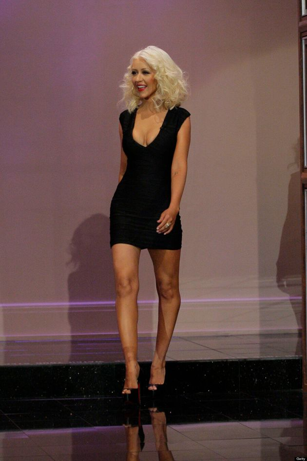 Christina Aguilera Flaunts Svelte Figure In LBD On 'Tonight Show With Jay Leno'