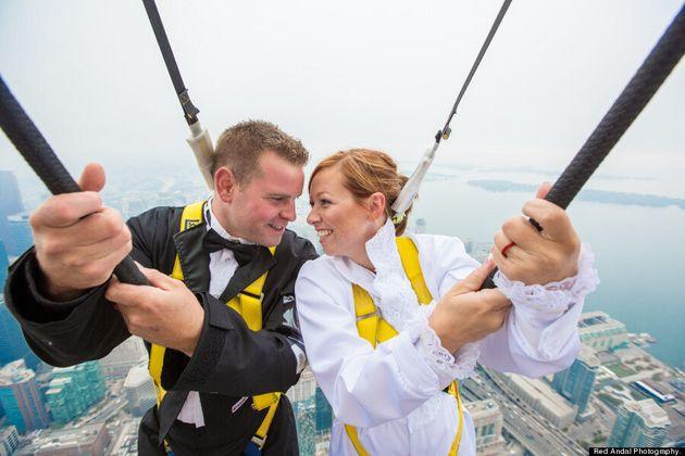 Edgewalk Wedding: Daredevil Couple Gets Married Teetering On Edge Of CN