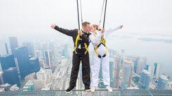 Daredevil Couple Gets Married Teetering On Edge Of CN