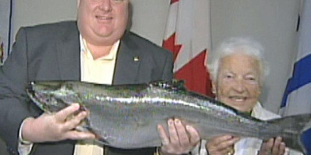 Mayor Rob Ford Gets Fish