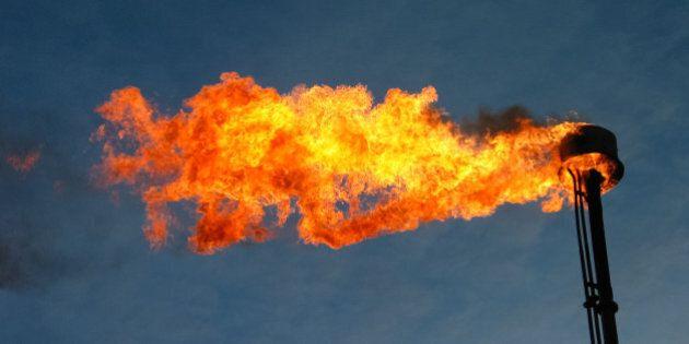 burning and smoking oil
