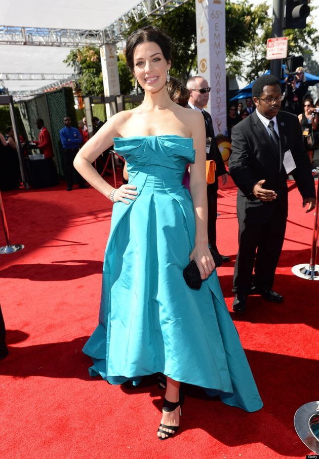 Jessica Pare Emmys 2013: 'Mad Men' Star's Red Carpet Dress Falls Flat