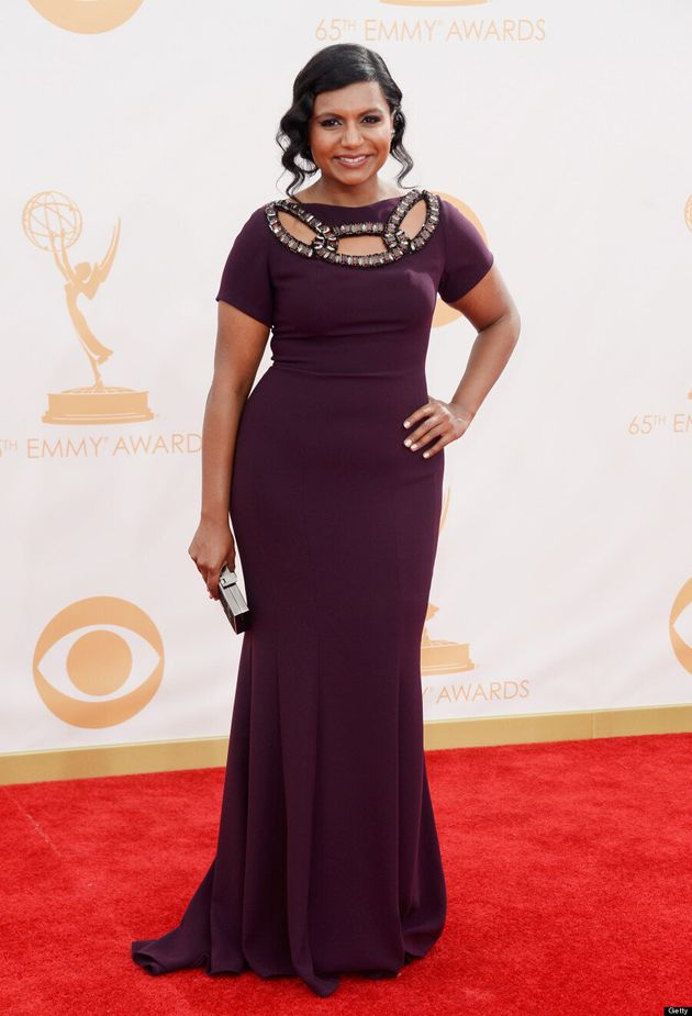 Mindy Kaling Emmys 2013: 'The Mindy Project' Star Glows In Form-Fitting Red Carpet Gown