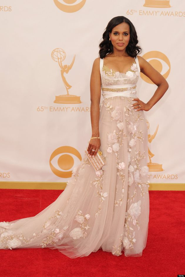 Kerry Washington Emmys 2013: 'Scandal' Star Disappoints In Marchesa On Red Carpet