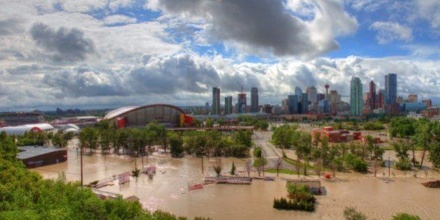 [UNVERIFIED CONTENT] A panoramic view of the flooded stampede grounds. Image was taken on June 21st at...