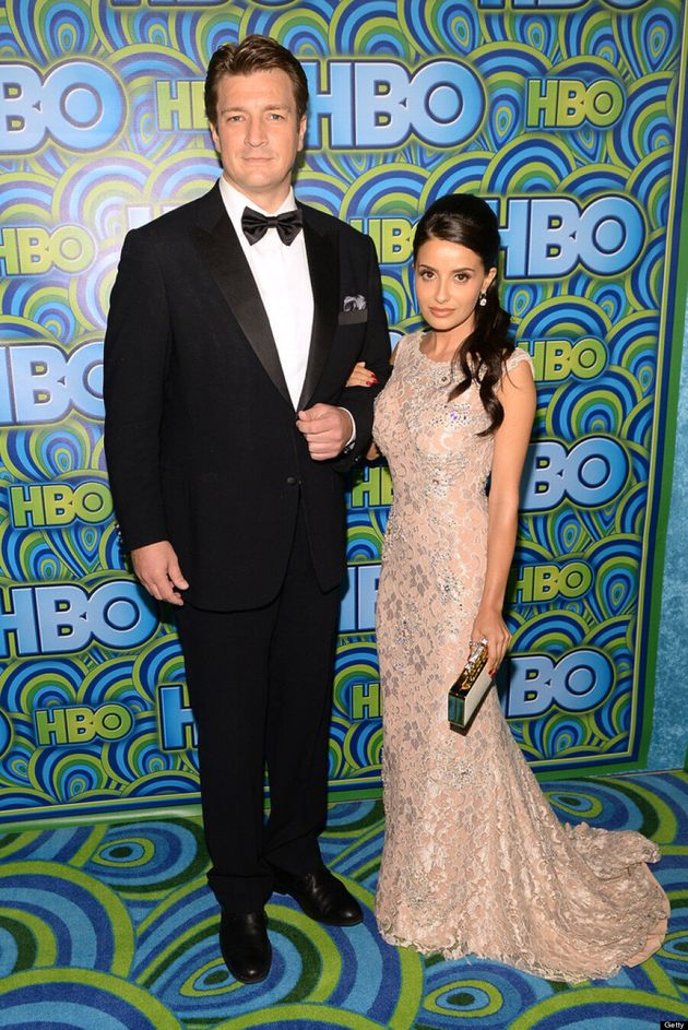 Nathan Fillion Emmys 2013: 'Castle' Star Gets Cozy On Red Carpet With Girlfriend Mikaela Hoover