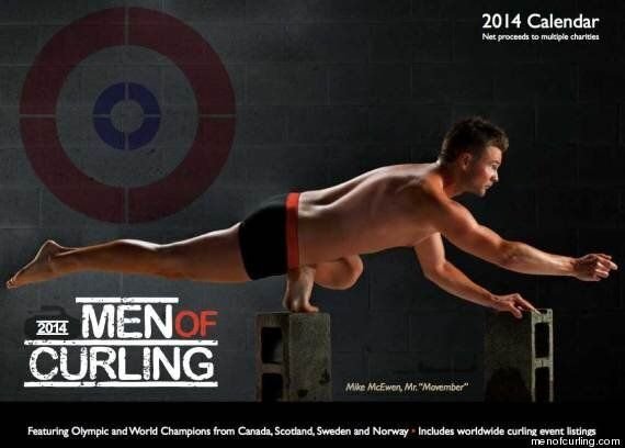 2014 Men of Curling Calendar: Hunks Strip Down To Skivvies, Go Ahead And