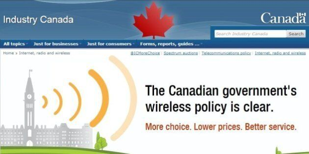 Wireless War: Industry Canada Website Hits At Big Three's