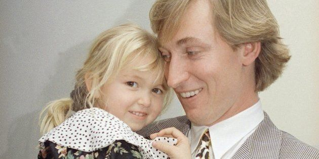 Paulina Gretzky Cuddles Up To Dad Wayne Gretzky In Adorable Vintage