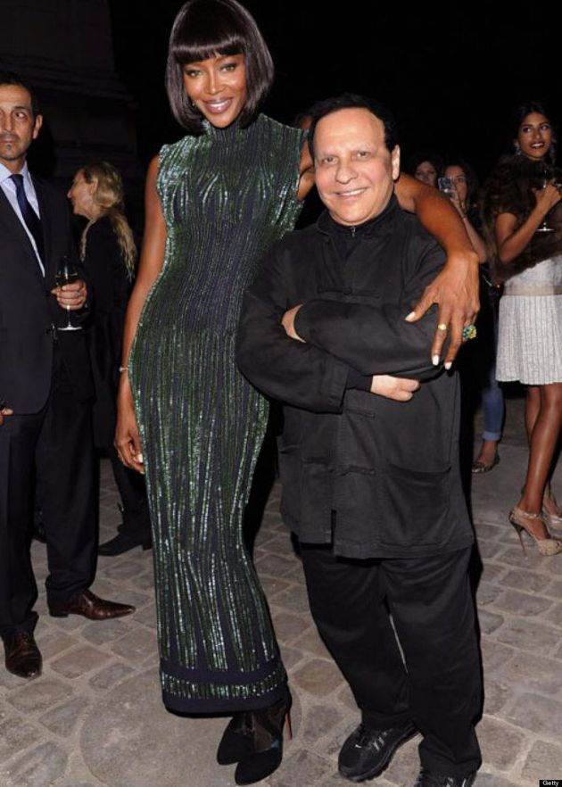Naomi Campbell Towers Over Azzedine Alaia