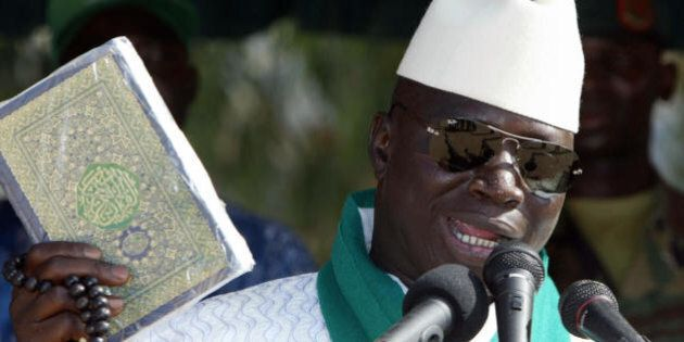 Serekunda, GAMBIA: Gambia's President and leader of the Alliance for Patriotic Reorientation and Construction...