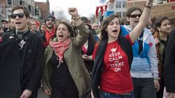 Montreal Student Riot Mar Charest
