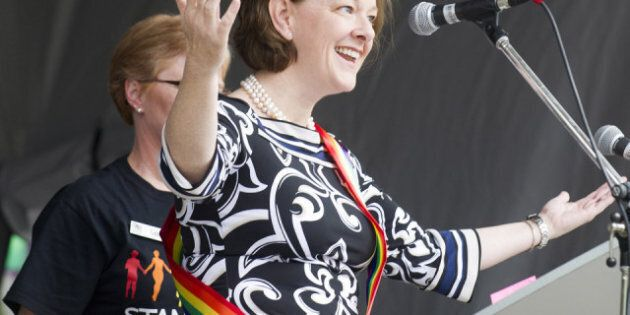 Alison Redford At Gay Pride: Cheers Greet First Alberta Premier To Speak At Gay Pride Event In
