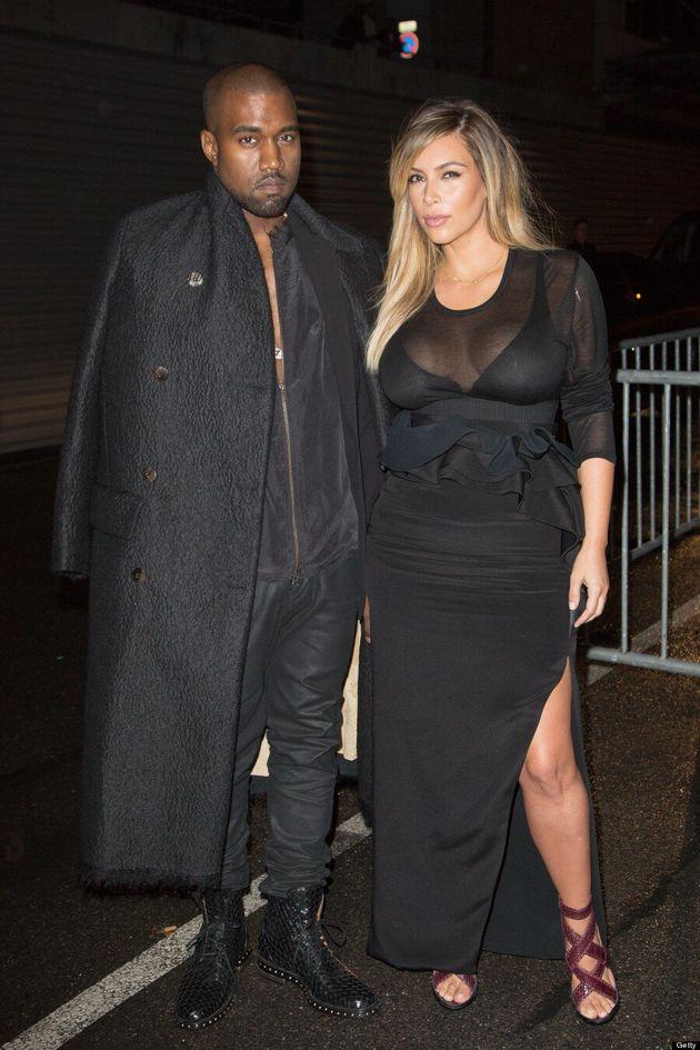 Kim Kardashian, Kanye West Hit Up Paris Fashion Week In Coordinating Outfits (VIDEO,