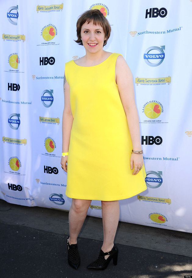 Lena Dunham's Yellow Rebecca Minkoff Shows Off More Than You Think