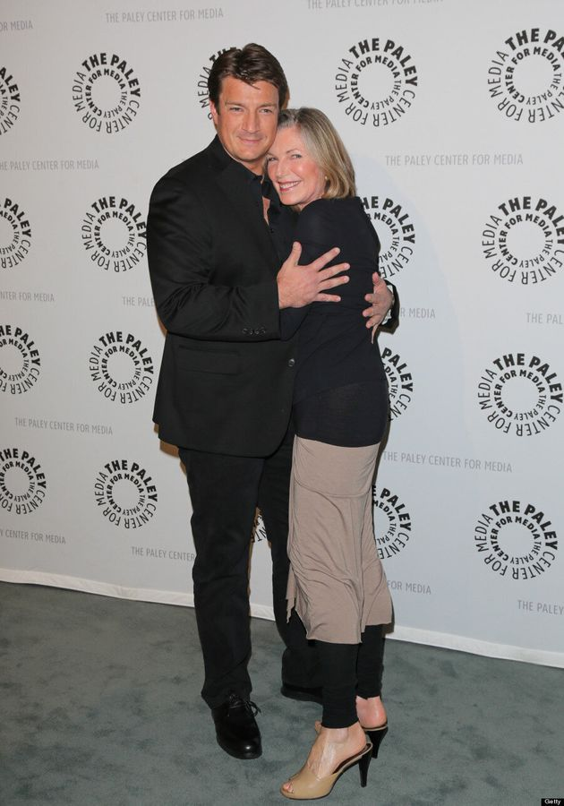 Nathan Fillion Gets Cozy With 'Castle' Co-Star Susan Sullivan At TV Event