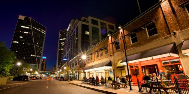 Night Scene from Downtown Regina