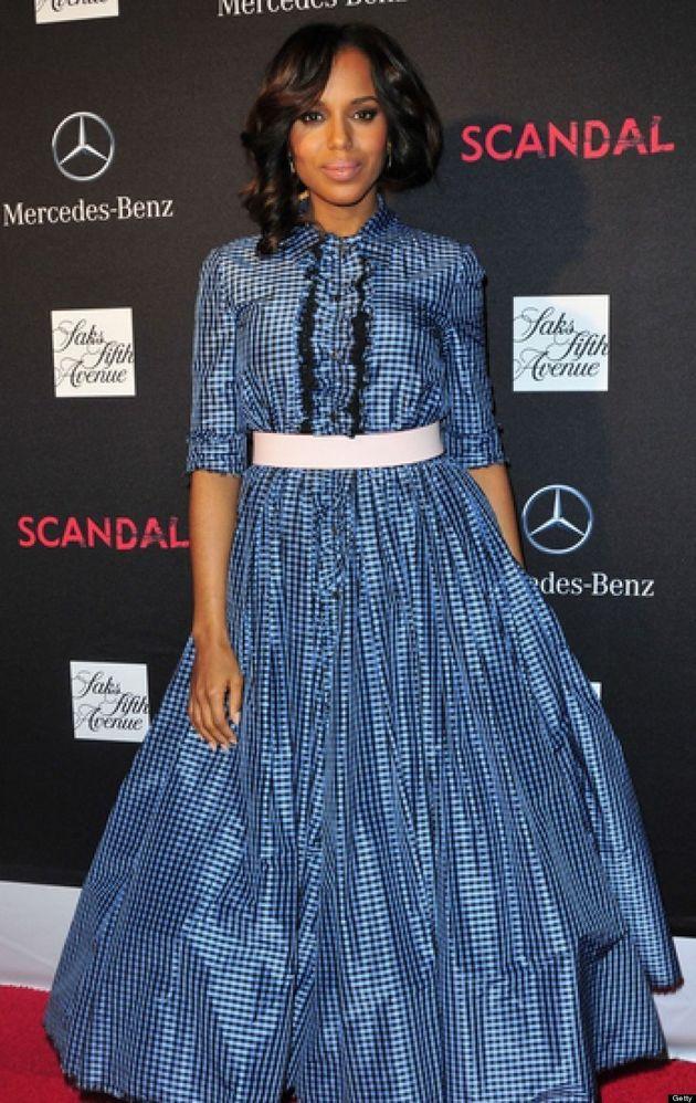 Kerry Washington Looks Like Scarlett O'Hara At 'Scandal' Season 3 Premiere