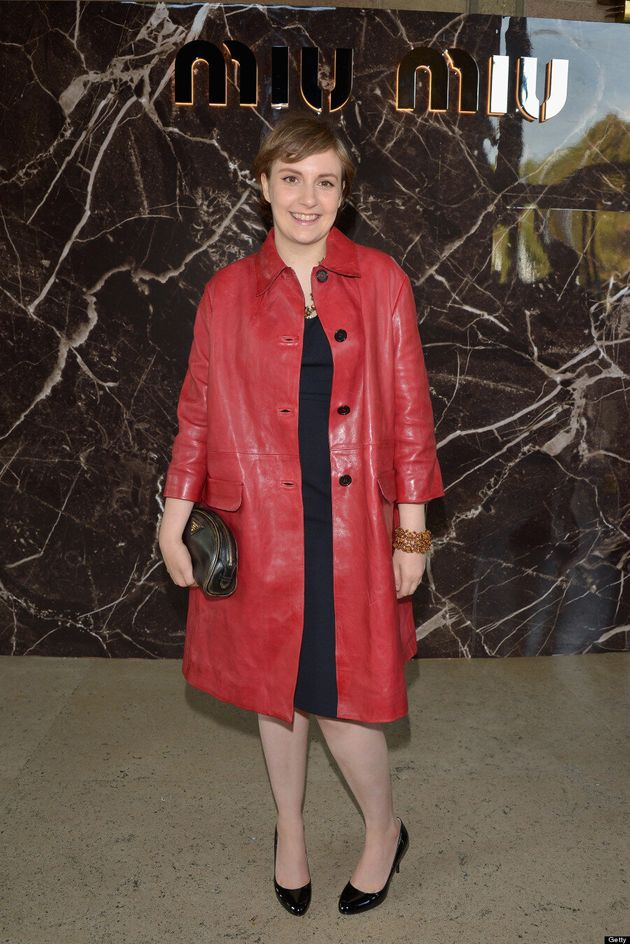 Lena Dunham's Paris Fashion Week Debut Is Red Hot