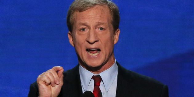 CHARLOTTE, NC - SEPTEMBER 05: Co-Founder of Advanced Energy Economy Tom Steyer speaks during day two...