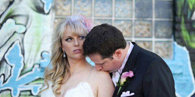 Real Wedding: Dramatic Fuchsia-Themed