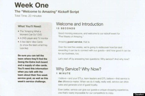 Target Canada Hiring: 'Welcome To Amazing' Training Script Leaked On Gossip