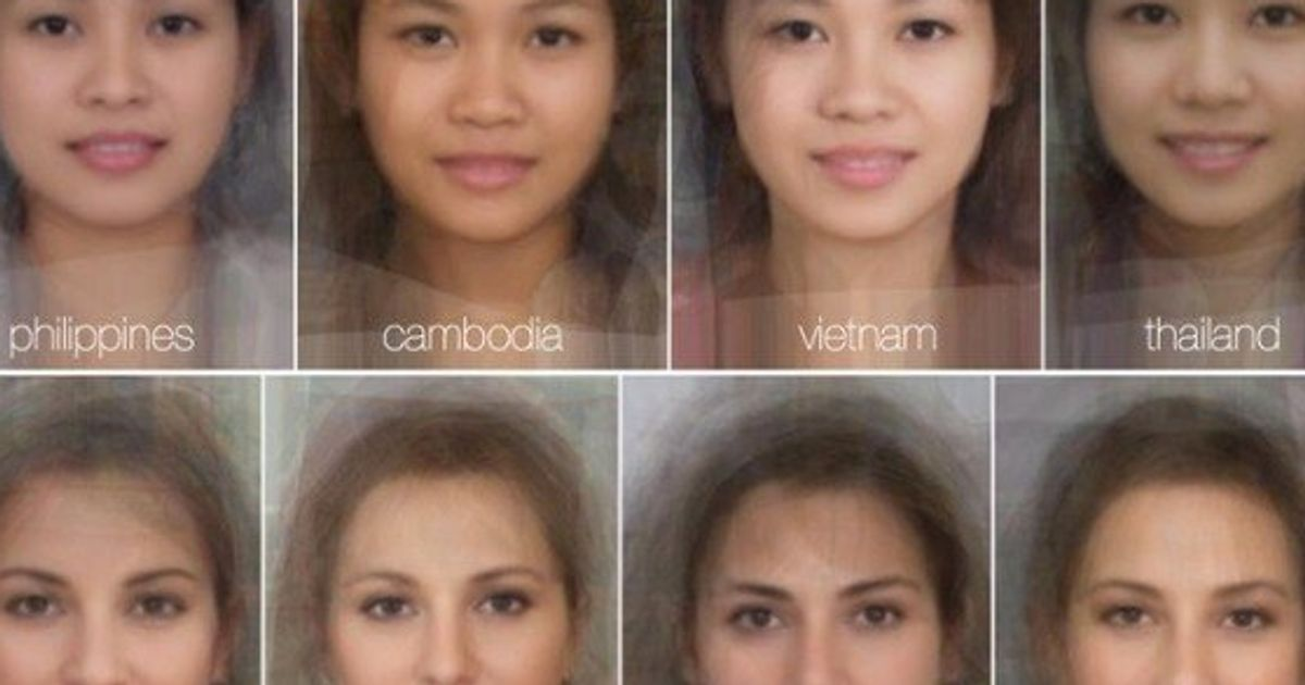 The Average Woman's Face Around The World (PHOTO) | HuffPost