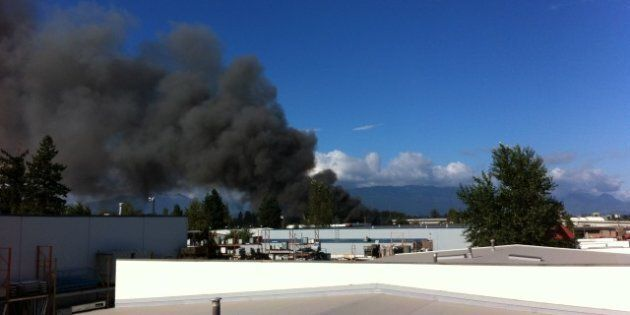 Langley Port Kells Fire, Explosion Releases 'Unknown