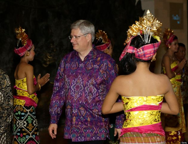 Prime Minister Stephen Harper Has Some Style Cred At APEC Stummit