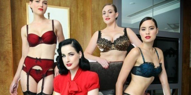 Celebrities In Lingerie: Dita von Teese Shows Her Super Sexy New Line