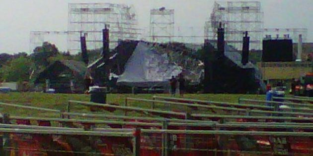 Radiohead Stage Collapse: Toronto's Downsview Park Stage Collapses, Killing Stage Worker (PHOTOS,