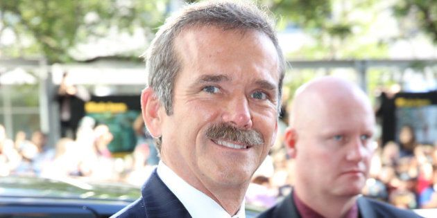 TORONTO, ON - SEPTEMBER 08: Astronaut Chris Hadfield attends the 'Gravity' premiere during the 2013 Toronto...