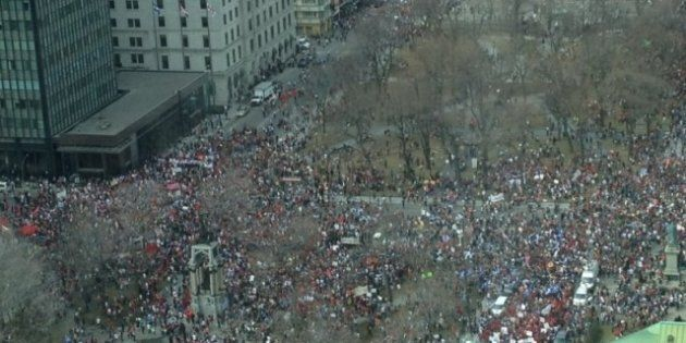Montreal Student Protest March Declared