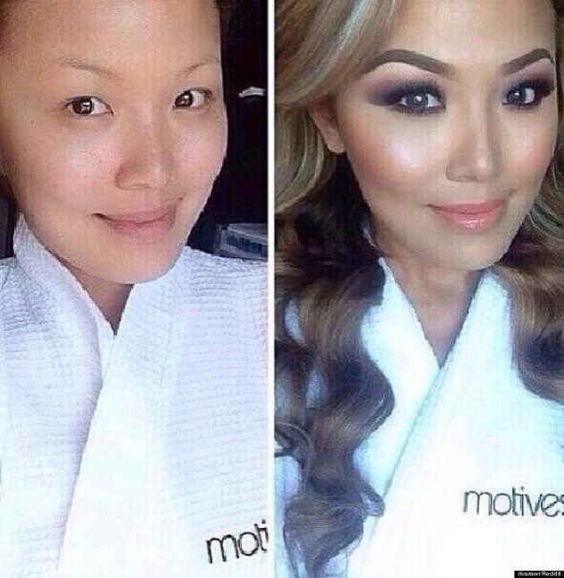 Before-And-After Makeup Photo Shows Woman's Stunning