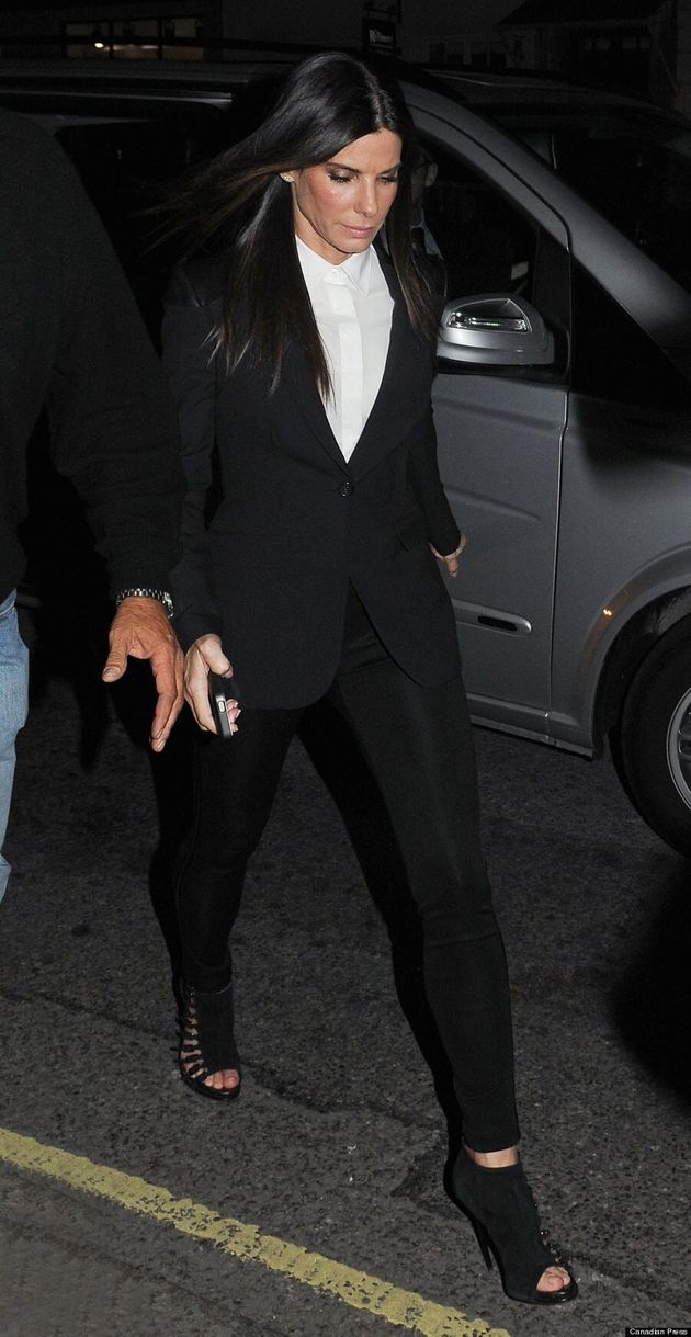 Sandra Bullock Rocks A Blazer For 'Gravity'