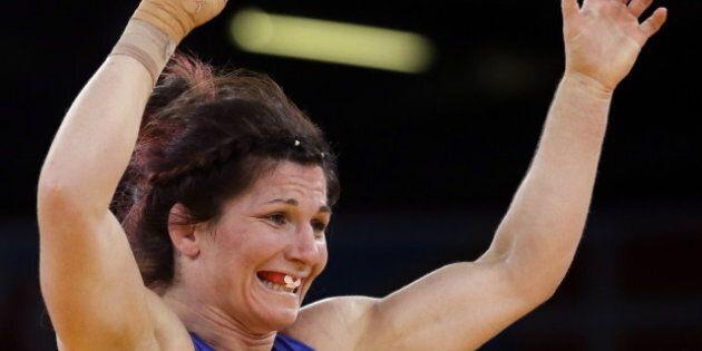 Tonya Verbeek Wins Silver In Women's Wrestling At London