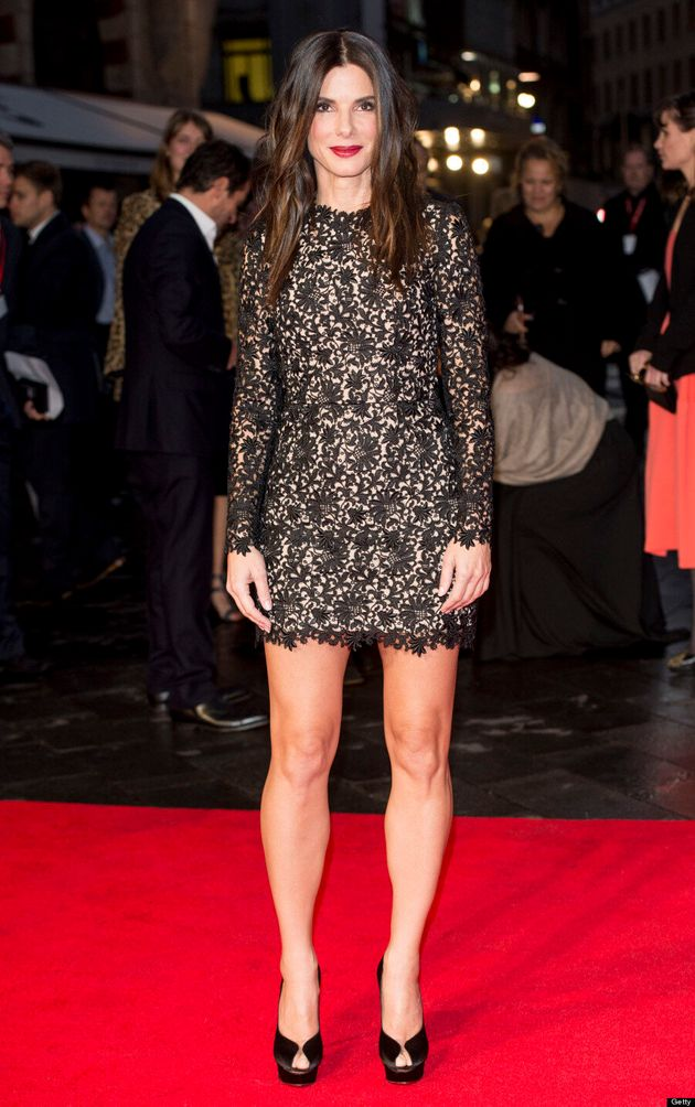 Sandra Bullock Shows Off Her Lean Legs At 'Gravity' Premiere