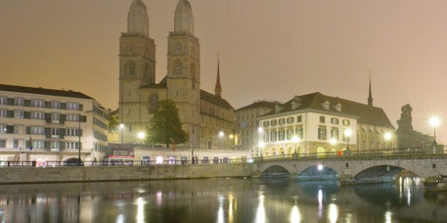 view of zurich and old city...