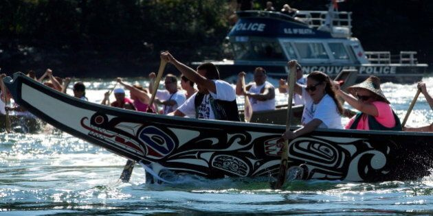 B.C. First Nation Protests Kinder Morgan