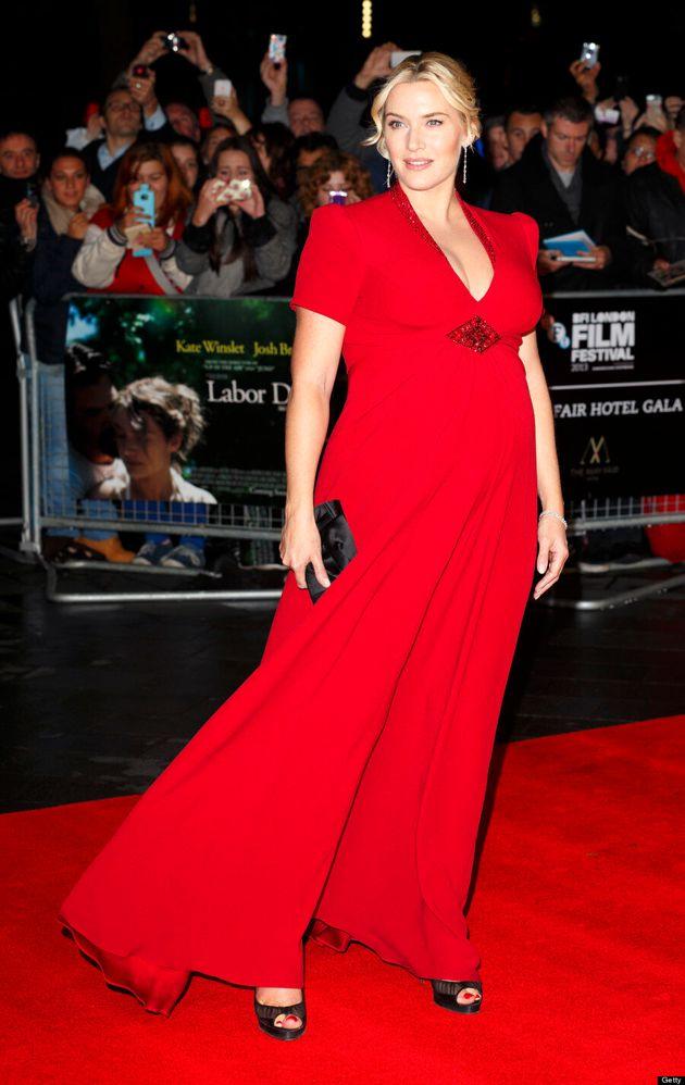 Kate Winslet Flaunts Baby Bump In Kate Middleton's Favourite Designer (VIDEO,