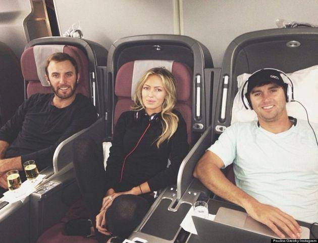 Paulina Gretzky Goes Without Makeup On Plane Ride To Australia